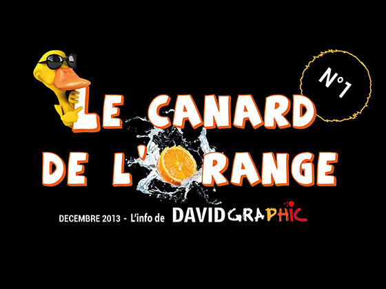 La couverture du journal David Graphic, Le Canard de l'Orange numéro 1