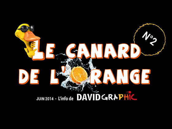 La couverture du journal David Graphic, Le Canard de l'Orange numéro 2