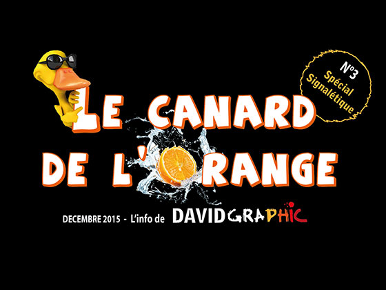 La couverture du journal David Graphic, Le Canard de l'Orange numéro 3