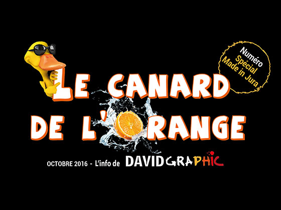 La couverture du journal David Graphic, Le Canard de l'Orange numéro spécial Made in Jura