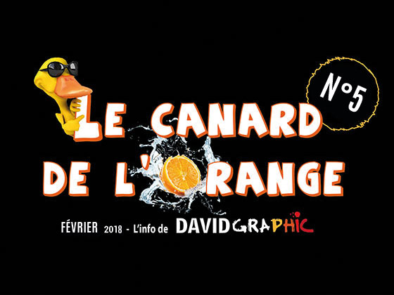 La couverture du journal David Graphic, Le Canard de l'Orange numéro 5